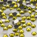 Jewel Embellishments, Lampwork glass, Yellow, Faceted Discs, 3mm x 3mm x 1mm, 300  pieces, [ZSS034]